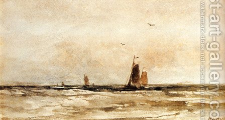 Seascape by Hendrik Willem Mesdag - Reproduction Oil Painting