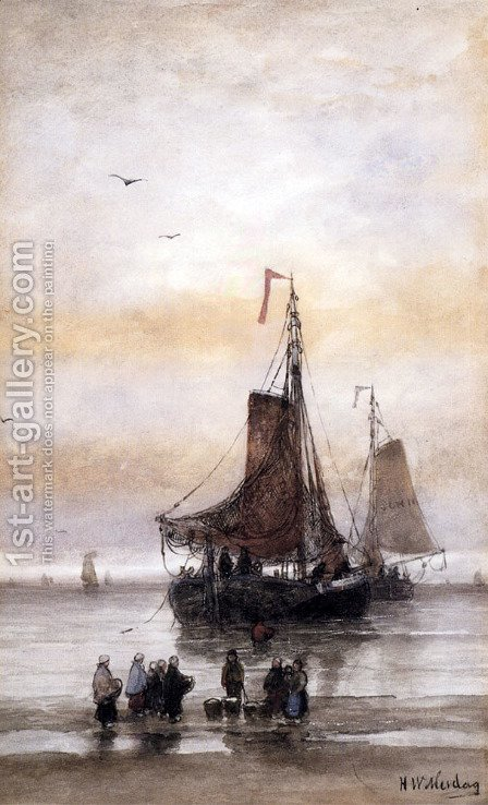The Arrival Of The Fleet by Hendrik Willem Mesdag - Reproduction Oil Painting