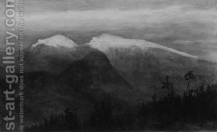 The White Mountains, from Randolph Hill by Homer Dodge Martin - Reproduction Oil Painting