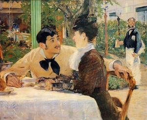 Reproduction oil paintings - Edouard Manet - Chez Le Père Lathuile (At Le Père Lathuile)