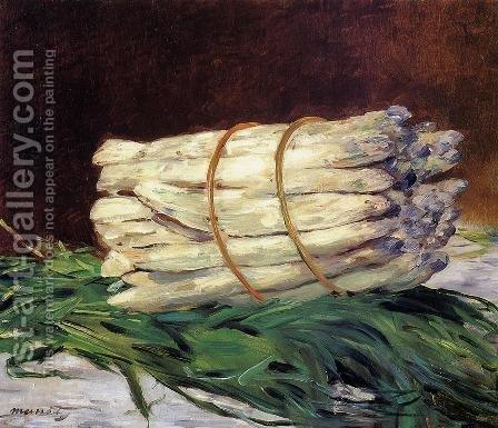 A Bunch Of Asparagus by Edouard Manet - Reproduction Oil Painting