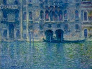 Famous paintings of Ships & Boats: Palazzo da Mula at Venice