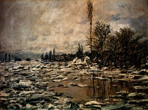 Famous paintings of Ice: Break-up Of Ice, Lavacourt