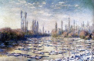 Famous paintings of Ice: Floating Ice Near Vetheuil