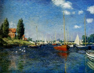 Famous paintings of Trees: Argenteuil (Red Boats)