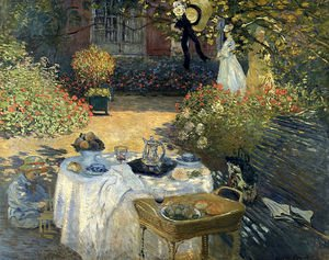 Famous paintings of Trees: The Luncheon (Monet's Garden At Argenteuil)