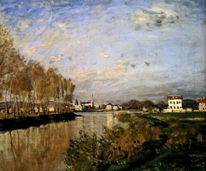 Famous paintings of Clouds & Skyscapes: The Seine At Argenteuil, 1873