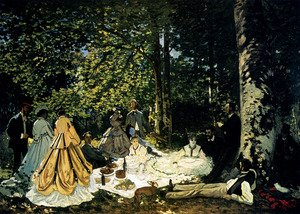 Famous paintings of Desserts: Dejeuner Sur L'Herbe A Chailly