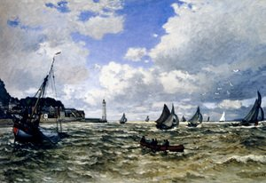 Famous Paintings Of Lighthouses The Seine Estuary At Honfleur
