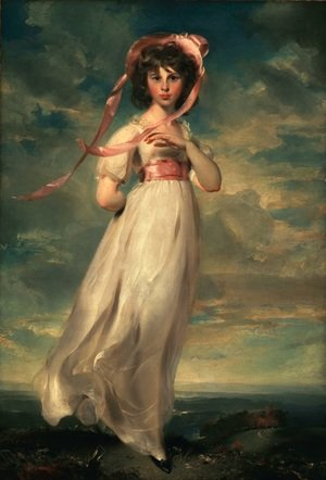 Reproduction oil paintings - Sir Thomas Lawrence - Pinkie (Sarah Barrett Moulton)