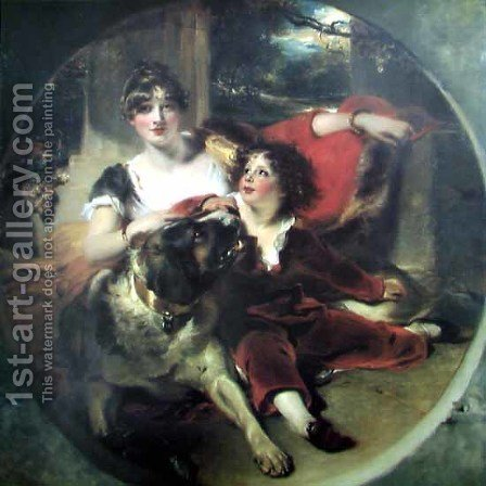 Mrs Maguire and her Son by Sir Thomas Lawrence - Reproduction Oil Painting