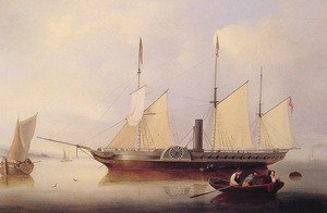 Reproduction oil paintings - Fitz Hugh Lane - Unicorn in Salem Harbour