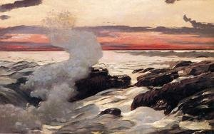 Famous paintings of Storms & Rough Water: West Point, Prout's Neck