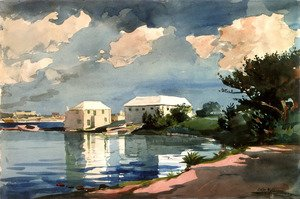 Famous paintings of Clouds & Skyscapes: Salt Kettle, Bermuda