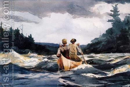 Canoe in the Rapids by Winslow Homer - Reproduction Oil Painting
