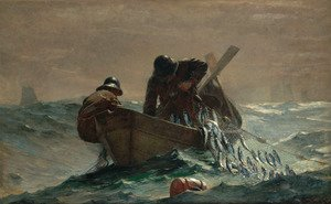 Famous paintings of Ships & Boats: The Herring Net