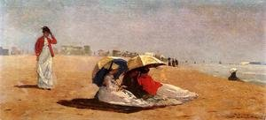 Famous paintings of Parasols and Umbrellas: East Hampton, Long Island