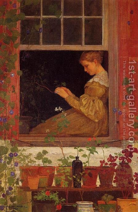 Winslow Homer: Morning Glories - reproduction oil painting