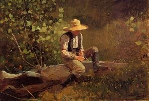 Famous paintings of Trees: The Whittling Boy