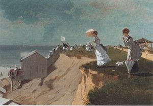 Famous paintings of Parasols and Umbrellas: Long Branch, New Jersey