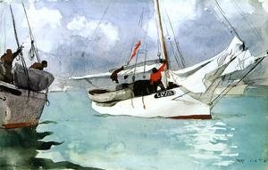Famous paintings of Ocean Scenes: Fishing Boats, Key West
