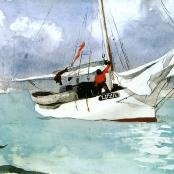 Oil painting reproductions - Ships & Boats - Winslow Homer: Fishing Boats, Key West
