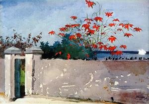 Famous paintings of Clouds & Skyscapes: A Wall, Nassau