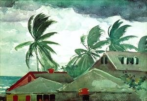 Famous paintings of Trees: Hurricane, Bahamas