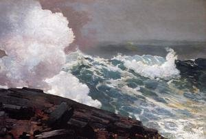 Famous paintings of Storms & Rough Water: Northeaster