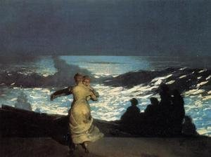 Famous paintings of Storms & Rough Water: A Summer Night
