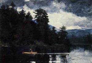 Famous paintings of Clouds & Skyscapes: Adirondack Lake