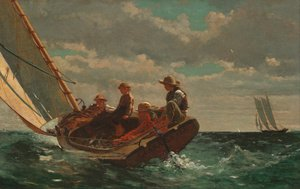 Famous paintings of Storms & Rough Water: Breezing Up (or A Fair Wind)
