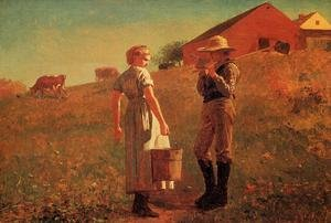 Reproduction oil paintings - Winslow Homer - A Temperance Meeting (or Noon Time)
