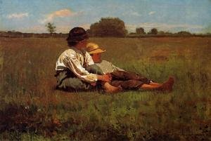 Reproduction oil paintings - Winslow Homer - Boys in a Pasture