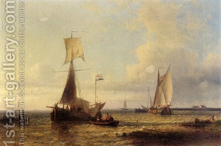 Shipping In A Calm by Abraham Hulk Snr - Reproduction Oil Painting