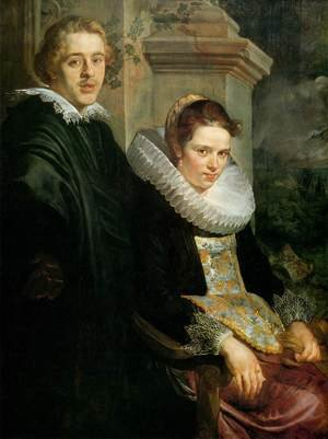 Famous paintings of Couples: Portrait of a Young Married Couple
