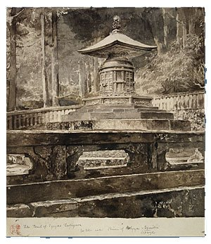 Famous paintings of Cemeteries: The Tomb of Iyeyasu Tokugawa
