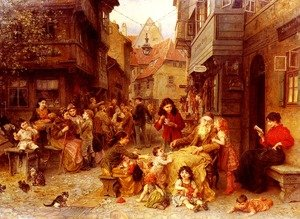 Ludwig Knaus reproductions - In the Shtetl