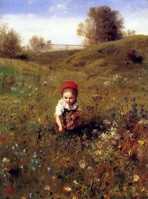 Reproduction oil paintings - Ludwig Knaus - Spring Time