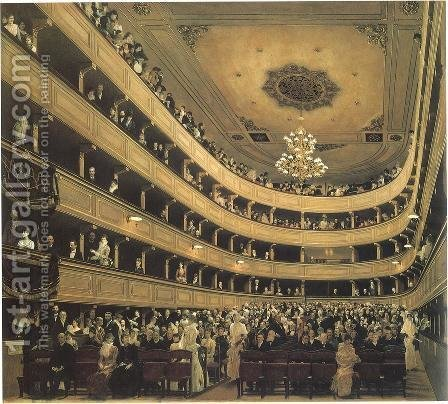 Gustav Klimt: Auditorium in the Old Burgtheater, Vienna - reproduction oil painting