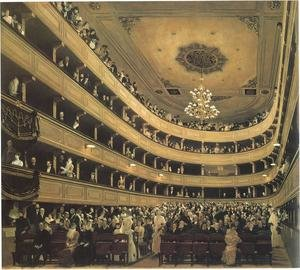 Reproduction oil paintings - Gustav Klimt - Auditorium in the Old Burgtheater, Vienna