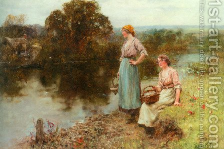 Waiting for the Ferryman by Henry John Yeend King - Reproduction Oil Painting