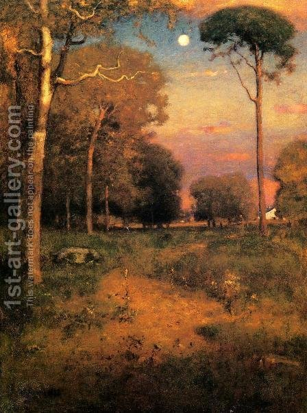 George Inness: Early Moonrise, Florida (or Early Morning, Florida) - reproduction oil painting
