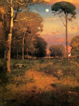 Reproduction oil paintings - George Inness - Early Moonrise, Florida (or Early Morning, Florida)