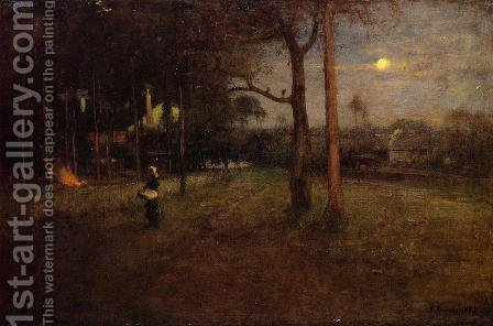 George Inness: Moonlight, Tarpon Springs, Florida - reproduction oil painting