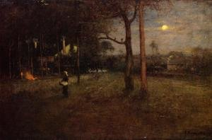 Reproduction oil paintings - George Inness - Moonlight, Tarpon Springs, Florida