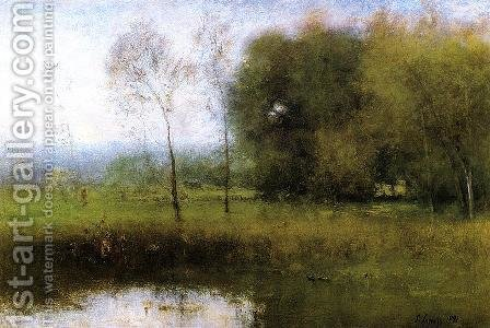 George Inness: Summer, Montclair (or New Jersey Landscape) - reproduction oil painting