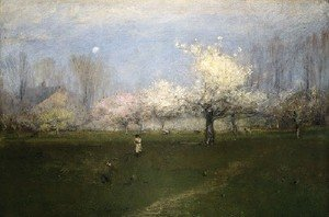 Reproduction oil paintings - George Inness - Spring Blossoms, Montclair, New Jersey