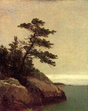 Famous paintings of Clouds & Skyscapes: The Old Pine, Darien, Connecticut