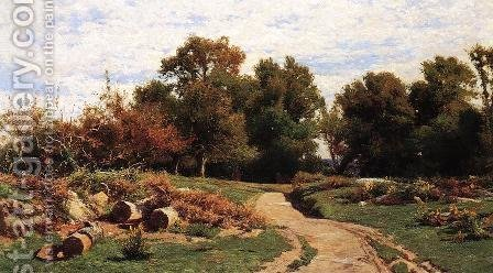 A Country Path in Summer by Hugh Bolton Jones - Reproduction Oil Painting